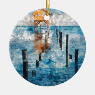 Holiday Vacation - Ambergris Caye Belize Christmas Ornament