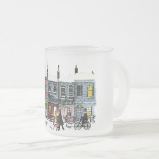 Holiday Village Frosted Mug