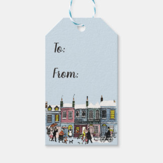 Holiday Village Gift Tags