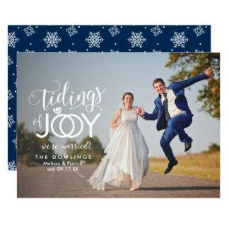 Holiday Wedding Newlywed First Christmas 13 Cm X 18 Cm Invitation Card