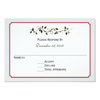 Holiday Wedding RSVP Reply or Response Card