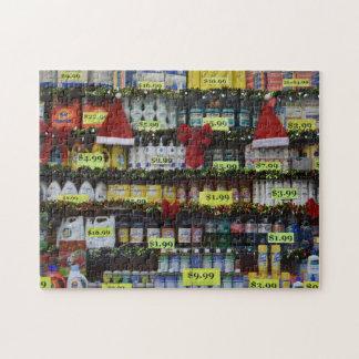 Holiday Windows New York Drugstore Santa NYC Jigsaw Puzzle