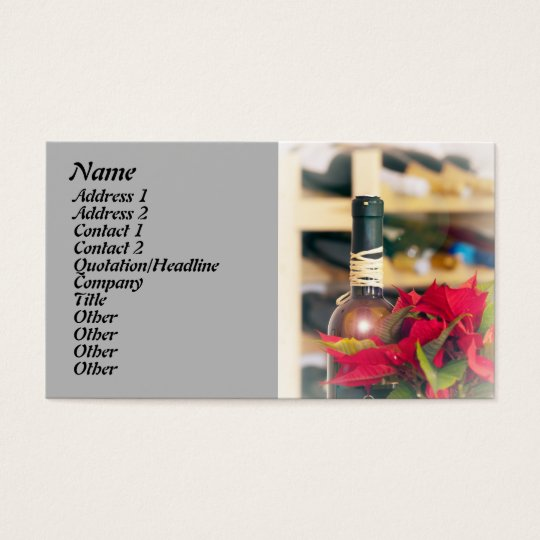 Holiday wine business card