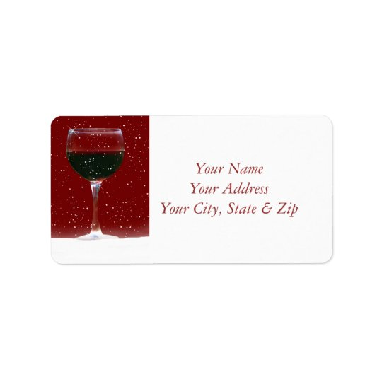 Holiday Wine Return Address Labels