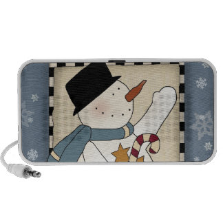 Holiday Winter Wishes Snowman Portable Speaker