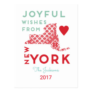 Holiday wishes from New York Postcard