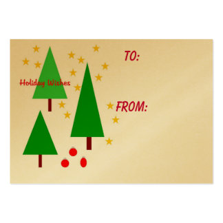 Holiday Wishes gift tag Pack Of Chubby Business Cards