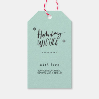 Holiday Wishes Gift Tag - Dark