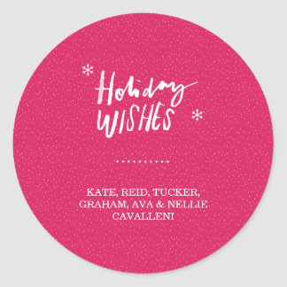 Holiday Wishes Sticker - Light
