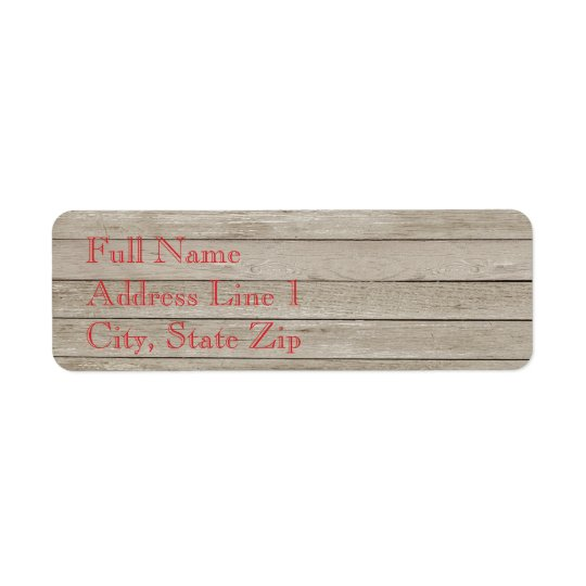 Holiday Wood Plank Return Address Label
