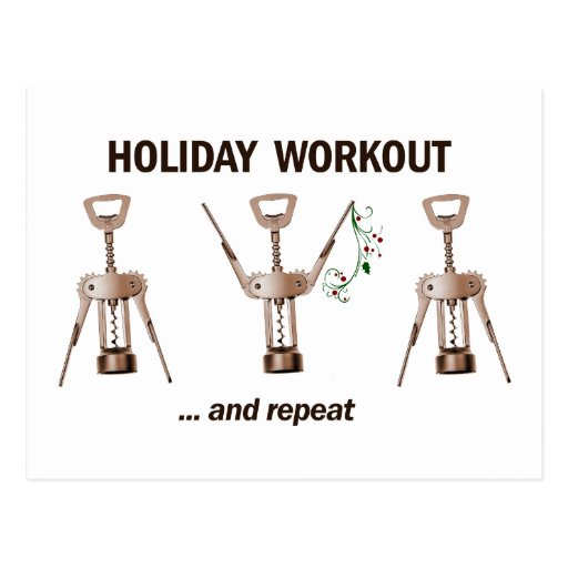 Holiday Workout Postcards