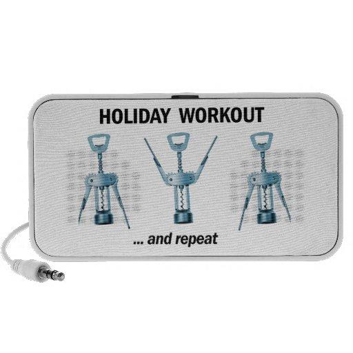 Holiday Workout Laptop Speaker