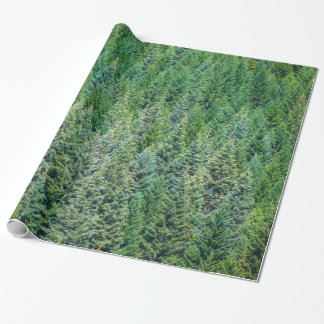 Holiday Wrapping Paper with Trees