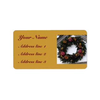 Holiday Wreath Address Labels