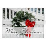Holiday Wreath • Merry Christmas Card