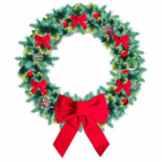Holiday Wreath Ornament Photo Cut Outs