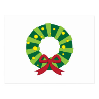 Holiday Wreath Post Cards