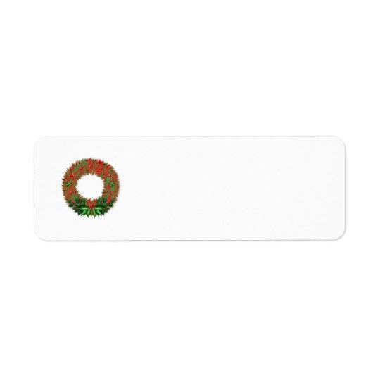 Holiday Wreath Return Address Label