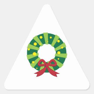 Holiday Wreath Triangle Sticker