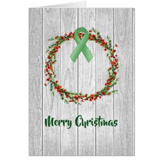 Holiday Wreath with Brain Injury Awareness Ribbon Card