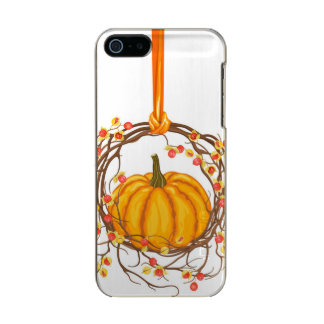 Holiday Wreath With Pumpkin Incipio Feather® Shine iPhone 5 Case