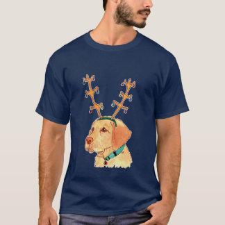 Holiday Yellow Lab t-shirt