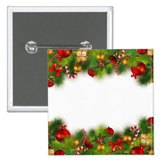 holidays 15 cm square badge