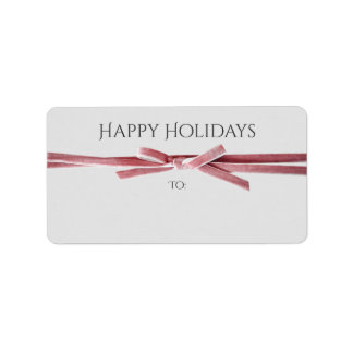 Holidays Address or Gift Labels | Velvet Ribbon