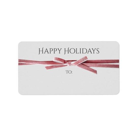 Holidays Address or Gift Labels | Velvet Ribbon