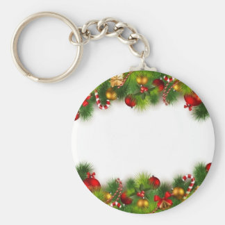 holidays basic round button key ring