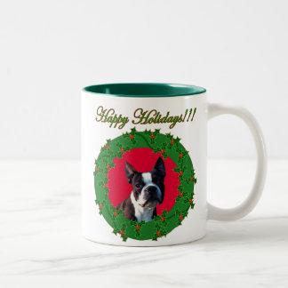 Holidays Boston Terrier mug
