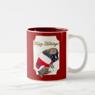 Holidays boxer puppy mug