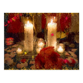 Holidays Candles Post Cards