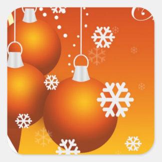 holidays decoration square stickers