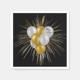 Holidays - Happy New Year Balloons Paper Napkins