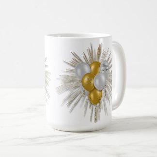 Holidays - Happy New Year Balloons White Coffee Mug