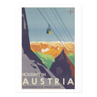 Holidays in Austria Mountains Vintage Travel Postcard