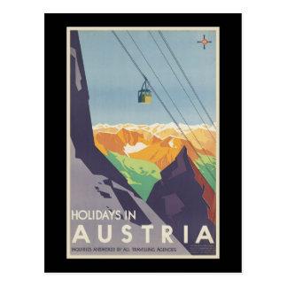 Holidays in Austria Postcard
