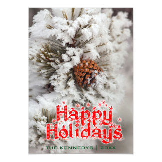Holidays - Lodgepole Pine cone - Yellowstone 13 Cm X 18 Cm Invitation Card