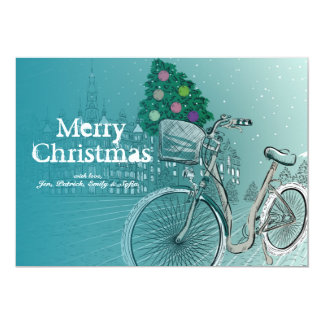 Holidays Postcard With Holidays Tree 13 Cm X 18 Cm Invitation Card