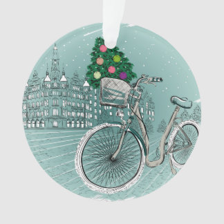Holidays Postcard With Holidays Tree Ornament