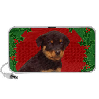 Holidays Rottweiler puppy PC Speakers