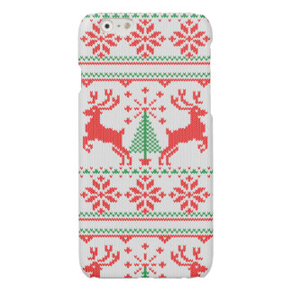 Holidays White Knit Christmas Ugly Sweater Ho Deer iPhone 6 Plus Case