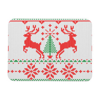 Holidays White Knit Ugly Sweater Ho Deer Magnet
