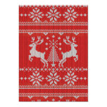 Holidays White Knit Ugly Sweater Style decor 13 Cm X 18 Cm Invitation Card