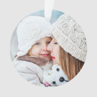 Holidays Winter Splashes Family Photo Ornament