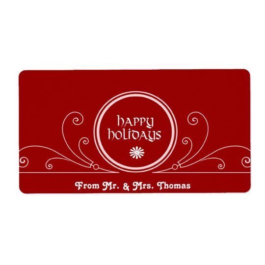 HolidayWine Label