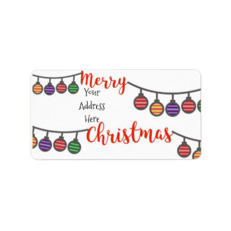 #holidayZ - Merry Christmas! Address Label