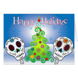 Holidaze Sugar Skulls Card