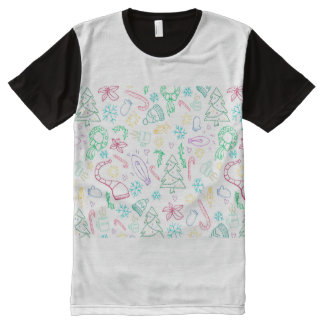 Holidoodles All-Over Print T-Shirt